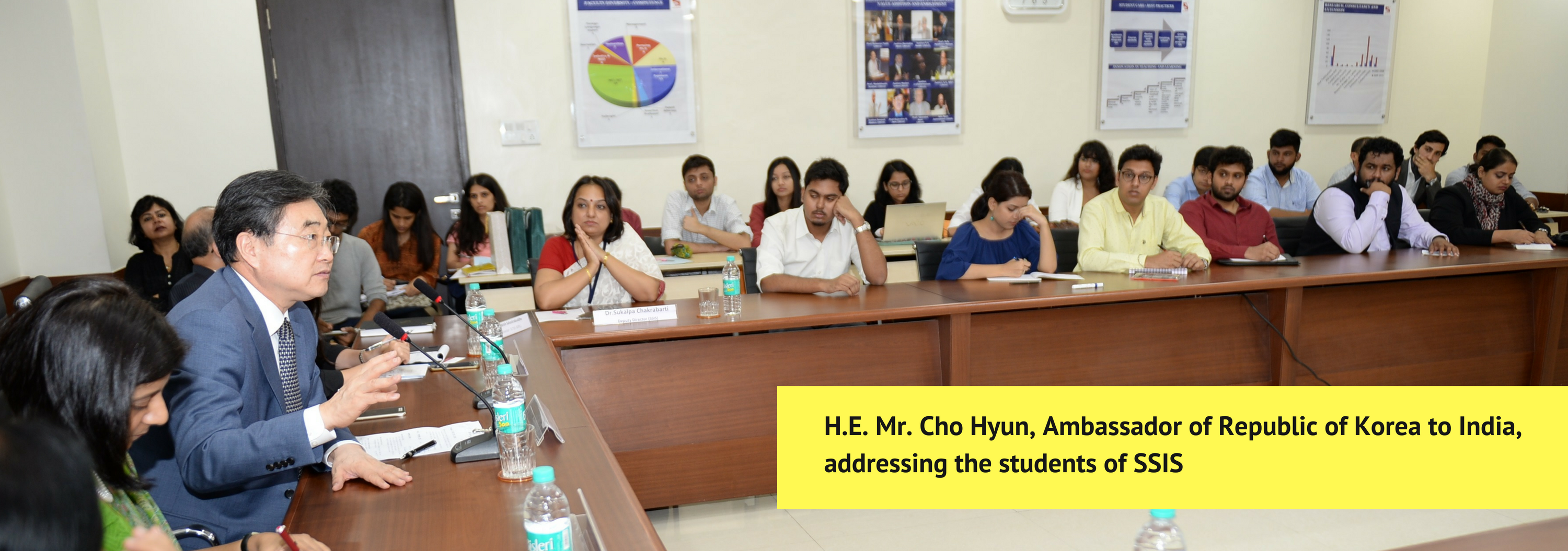 Guest Lecture by His Excellency Mr. Cho Hyun, Ambassador of Republic of South Korea to India