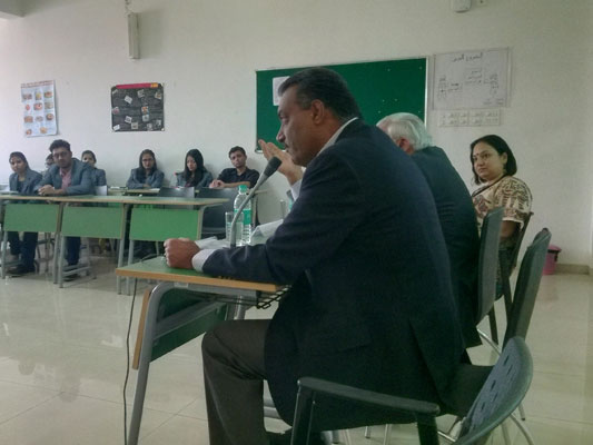 Guest Lecture by Mr. Maroof Raza, Indian commentator on military and security affairs