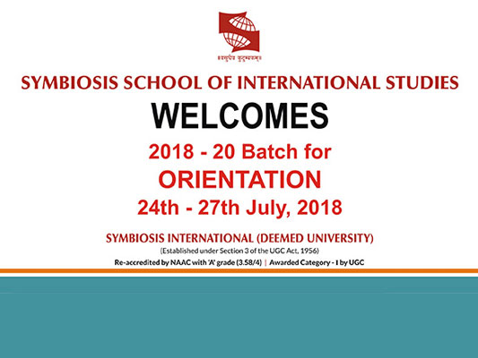 Orientation / Induction for Batch 2018 - 20
