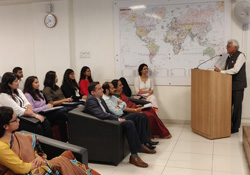 Induction/orientation for the Symbiosis School of International Studies
